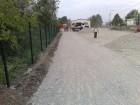 parkoló zúzott betonból